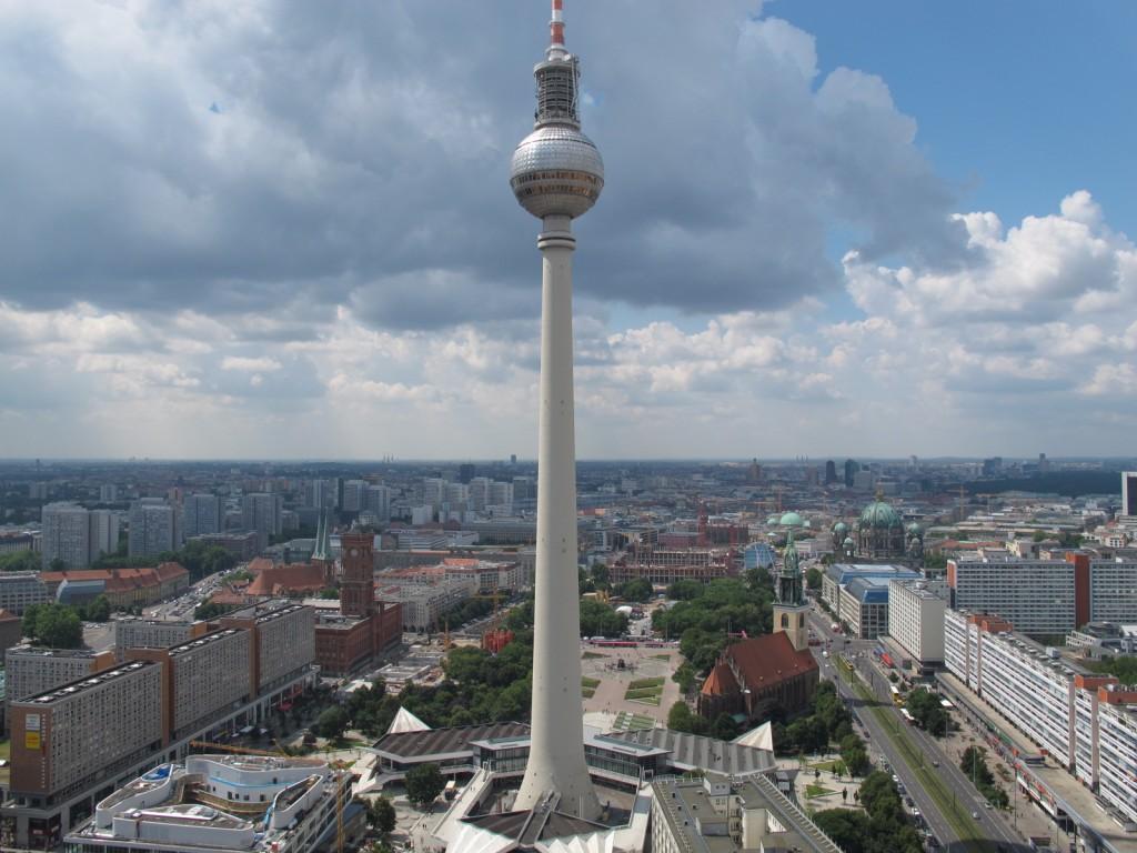 Blick vom Park Inn Hotel am Alexanderplatz