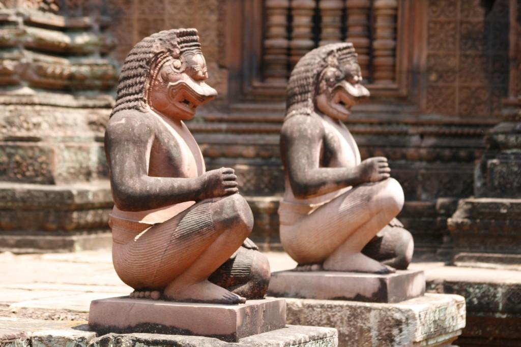 Tempelwächter in Banteay Srei