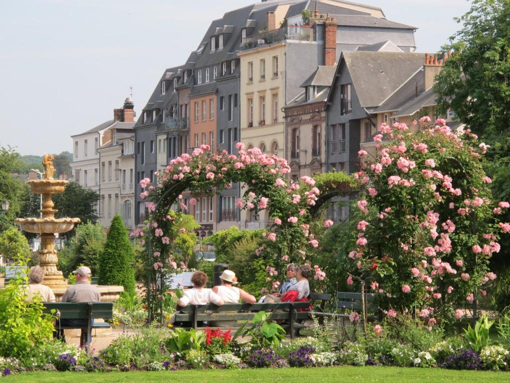 Der Stadtgarten von Honfleur