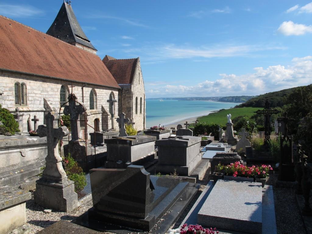 Kirche Sainte Valery und der Cimetiére Marin