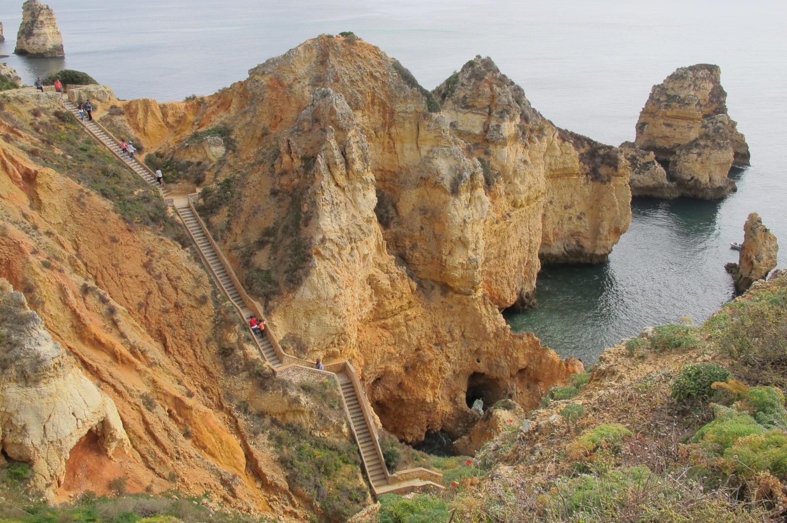 Treppenstufen an der Ponta da Piedade